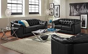 Pictures Of Living Rooms With Black Leather Furniture Black Tufted Leather Sofa Sets Dans Design Magz Stylish