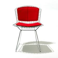 Bertoia Dining Chair Knoll Bertoia Side Chair With Back Pad And Seat Cushion Modern