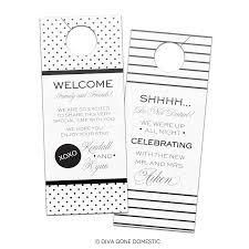 hotel wedding guest do not disturb privacy door hanger favors gift
