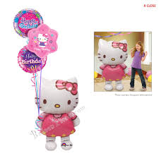balloon delivery hello birthday ii airwalker balloon bouquet 4 balloons