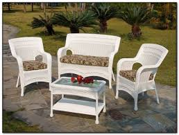 White Wicker Patio Chairs Walmart White Wicker Patio Furniture Patios Home Decorating