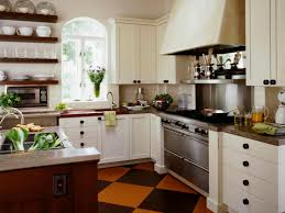 Cottage Style Kitchen Design - cottage style kitchen design white red bricks wall paint color