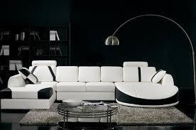 Black And White Sectional Sofa Modern White And Black Sectional Sofa With Chaises Modern