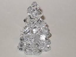 Mini Glass Christmas Tree Decorations by Amazon Com Mini Crystal Clear Glass Christmas Tree Hand Made