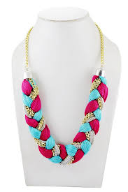 multi coloured necklace images Buy adbeni multicoloured satin threads braided choker handcraft jpg