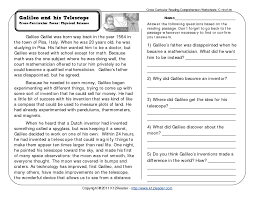 reading comprehension grade 6 grade reading worksheets worksheets