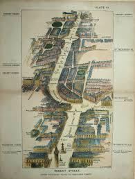 Portland Street Map by Scarce Regent Street Waterloo Pl To Portland Pl By Herbert Fry
