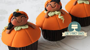 pumpkin cupcakes for halloween youtube