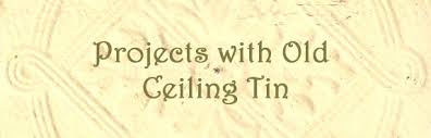 How To Put Up Tin Ceiling Tiles by Diy Craft Projects Using Old Ceiling Tin Tiles Trash To Treasure