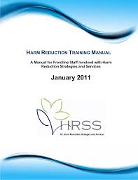 harm reduction training manual bc centre for disease control