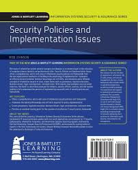 security policies and implementation issues robert johnson mark