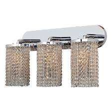 Crystal Wall Sconce by Worldwide Lighting Prism Collection 3 Light Chrome With Clear