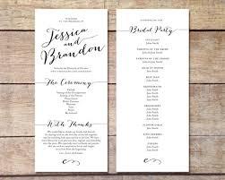 wedding program design simple wedding program customizable design simple simple