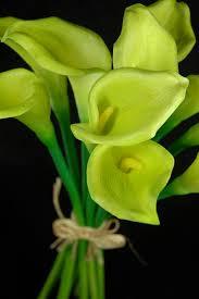 calla flower touch green calla wedding bouquet 14