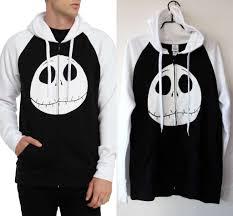 the nightmare before contrast zip hoodie in