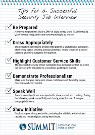 veronica molina u0027s tips for a successful security job interview