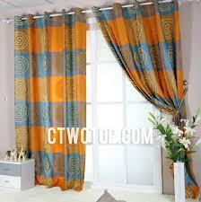 Blue And Orange Curtains Chic Designer Orange And Blue Buy Curtains India