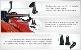 Mounting Brackets For Led Light Bar Amazon Com Auxmart Side Mounting Brackets For Universal Light Bar