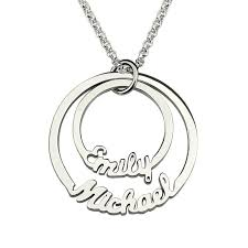 name necklaces silver two disc name necklace in silver personalized necklace disc