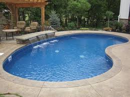 inground swimming pool shapes best above ground pool landscaping