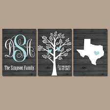 last name monogram last name initial wall decor grey blue wooden sign family