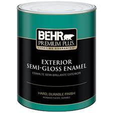 behr premium plus 1 qt ultra pure white semi gloss enamel