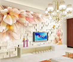 fashion 3d home decor beautiful fantasy flowers 3d stereo tv wall