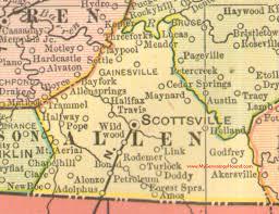 map of allen allen county kentucky 1905 map scottsville ky