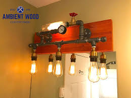 Wood Light Fixture Vanity Lighting Ambient Wood Furnishing