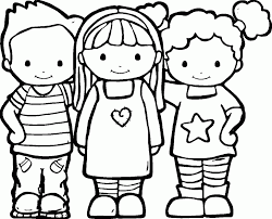 free friendship coloring pages kids friendship