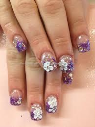 50 easy flower nail art and designs golfian com
