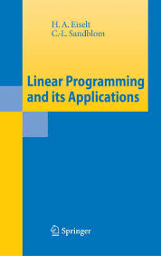 linear programming and its applications h a eiselt c l sandbl u2026