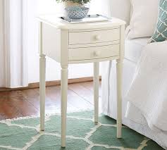 Small Nightstand Table Charlotte Bedside Table Pottery Barn