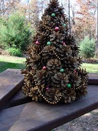 vintage 1962 handcrafted pine cone tree by rusticcreek