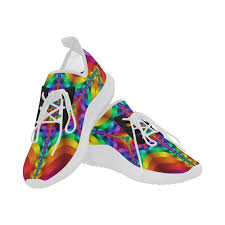 ultra light running shoes rainbow colored light waves heartbeat fractal dolphin ultra light