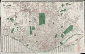 Map St Louis Map Of City Of St Louis And Suburbs Digital Commonwealth
