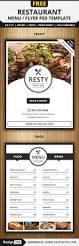 restaurant menu flyer templates