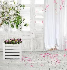wedding vinyl backdrop 2017 white door curtain pink petal 5x7ft vinyl backdrop wedding