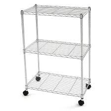 Metal Wire Storage Shelves Finnhomy 3 Tier Heavy Duty Wire Rack Shelving With Wheels Metal