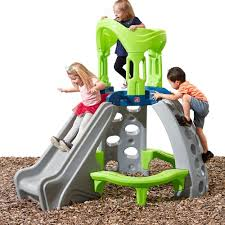 amazon com step2 castle top mountain climber slides for kids with