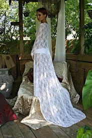 Wedding Sleepwear Bride White Lace Bridal Nightgown With Train Wedding Lingerie Bridal