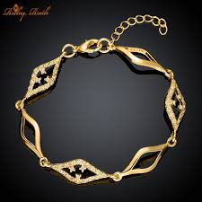 gold chain bracelet with charms images 2016gold plated chain bracelet fashion bracelets for women crystal jpg