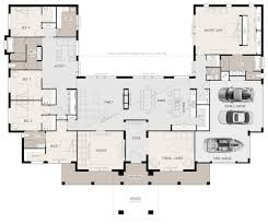 floor plan friday u shaped 5 bedroom family home house plans