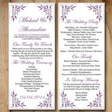order of ceremony for wedding program shop purple wedding programs on wanelo