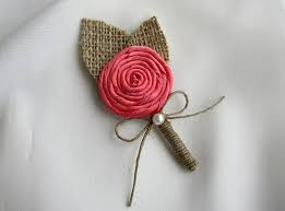 coral boutonniere set of 5 6 7 or 8 coral boutonniere rustic burlap wedding