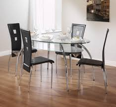 kitchen small black glass dining table and chairs glass coffee