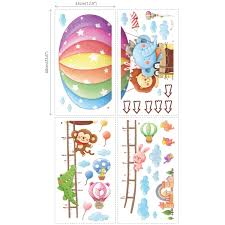 animal hot air balloons height chart wall stickers animal hot air balloon height chart nursery wall stickers