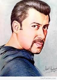 pencil colors sketch of salman khan in dabangg desipainters com