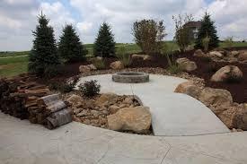 Concrete Firepit B T Klein S Landscaping Hardscapes Concrete Concepts