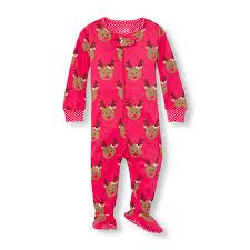 baby and toddler sleeve reindeer printed footed